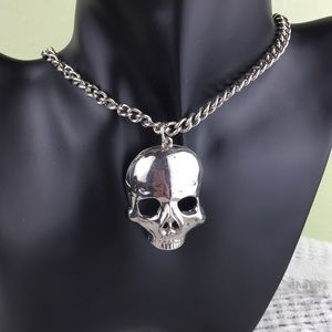 Jewelry - Skull Pendant Silver Toned Necklace